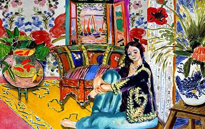 Matisse Digital Art - Matisse's Open Room by Laura Botsford
