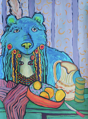 Painting - Mato Loves Lemonade by Lynda Hoffman-Snodgrass