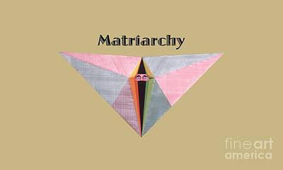 Painting - Matriarchy Text by Michael Bellon