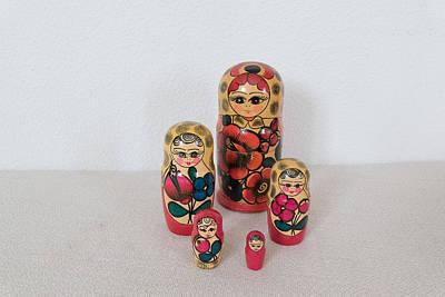 Dr. J Photograph - Matrioshka Dolls. by Benny Blitzblau