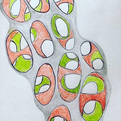 Molecule Drawing - Matrix 2 by Roger Gregory
