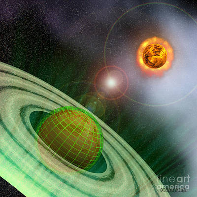 Matrix Planet Art Print