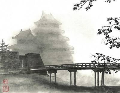 Painting - Matsumoto Morning Mist by Terri Harris