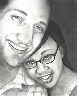 Drawing - Matt And Jasmine by AC Williams