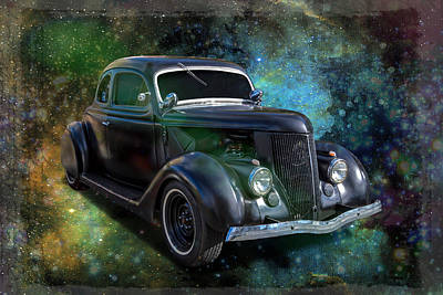 Matt Black Coupe Art Print by Keith Hawley