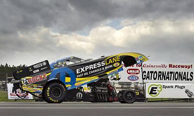 Matt Hagan Top Fuel Art Print by Peter Chilelli