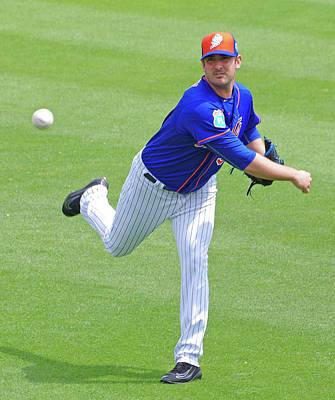 Matt Harvey New York Mets Art Print by Bruce Roker