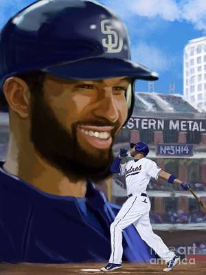 Matt Kemp Painting - Matt Kemp by Jeremy Nash