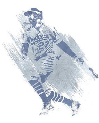 Los Angeles Dodgers Wall Art - Mixed Media - Matt Kemp Los Angeles Dodgers Water Color Art 2 by Joe Hamilton