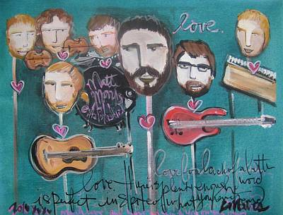 Painting - Matt Morris And His Band At The Bluebird by Laurie Maves ART