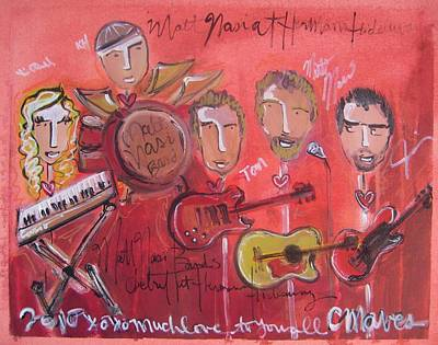 Painting - Matt Nasi Band by Laurie Maves ART