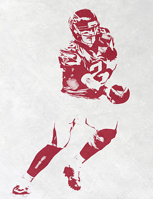 Falcon Mixed Media - Matt Ryan Atlanta Falcons Pixel Art 3 by Joe Hamilton
