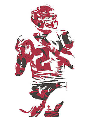 Falcon Mixed Media - Matt Ryan Atlanta Falcons Pixel Art 7 by Joe Hamilton