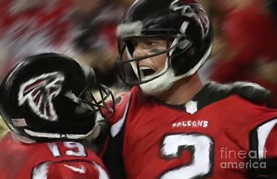 Atlanta Falcons Painting - Matt Ryan by Jack Bunds