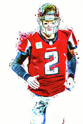 Photograph - Matt Ryan Qb Atlanta Falcons Digital Painting by David Haskett II