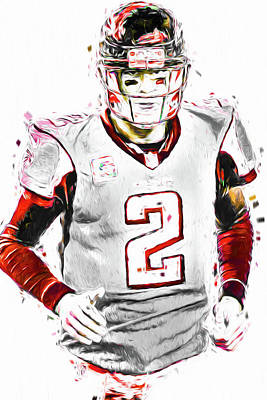 Photograph - Matt Ryan Qb Falcons Painting Digital by David Haskett