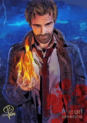 Digital Art - Matt Ryan's Constantine by Joseph Burke