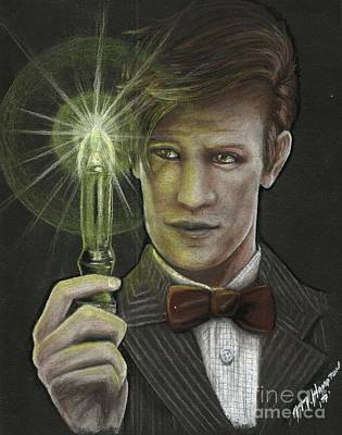 Eleventh Doctor Drawing - Matt Smith by Michael Hampton