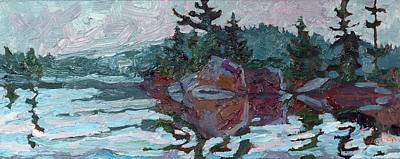 Trout Painting - Mattawa Island by Phil Chadwick