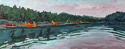 Trout Painting - Mattawa Morning by Phil Chadwick