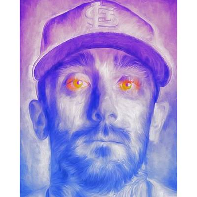 Baseball Wall Art - Photograph - #mattcarpenter #mattcarpenter13 by David Haskett II