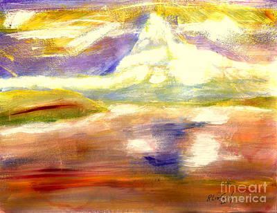 Painting - Matterhorn 11 by Richard W Linford