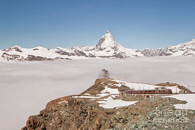 Photograph - Matterhorn And Fog by Christine Amstutz