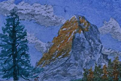 Painting - Matterhorn Gold 2 by Warren Thompson
