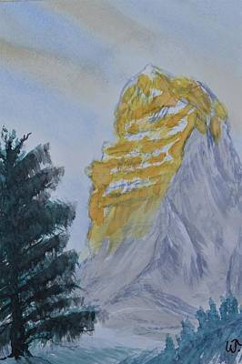 Painting - Matterhorn Gold by Warren Thompson