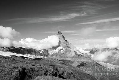 Photograph - Matterhorn In Black And White by Ivy Ho