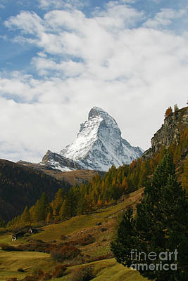 Matterhorn In The Fall Art Print