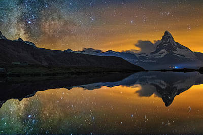 Matterhorn Milky Way Reflection Art Print