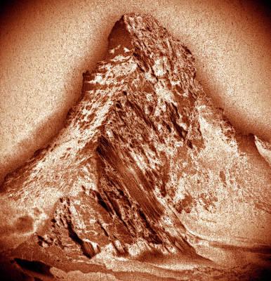 Mixed Media - Matterhorn Mountain by Frank Tschakert