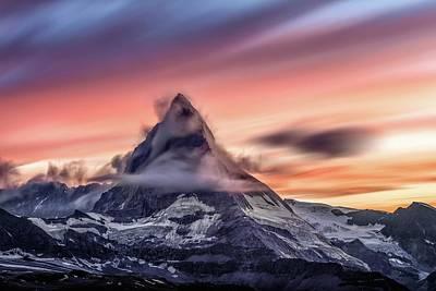 Rocks Photograph - Matterhorn by Sebastian Musial