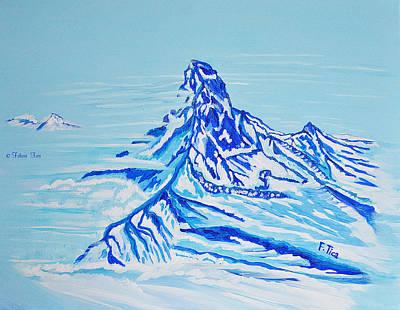 Painting - Matterhorn Story - 1 by Felicia Tica