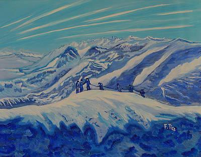 Painting - Matterhorn Story - 2 - Daylight by Felicia Tica