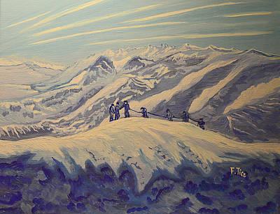 Painting - Matterhorn Story - 2 by Felicia Tica