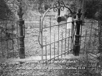 Photograph - Matthew 16 Vs 18 by Kate Word
