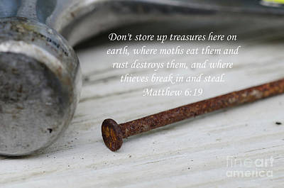 Photograph - Matthew 6 by Dale Powell