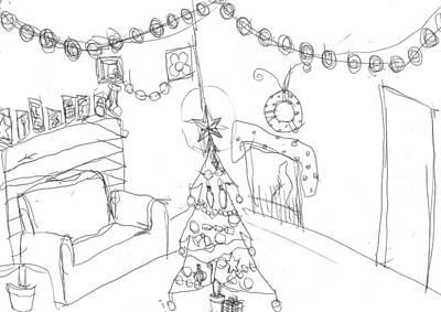 Matthew Joseph Williams Drawing - Matthews Christmas by Artists With Autism Inc