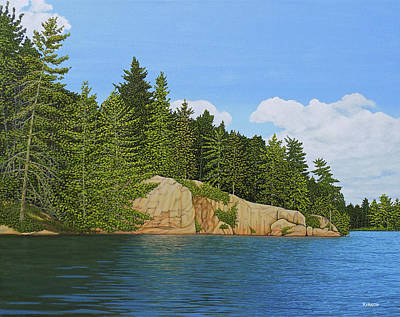 Painting - Matthew's Paddle by Kenneth Kirsch