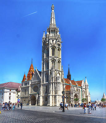 Photograph - Matthias Church by C H Apperson