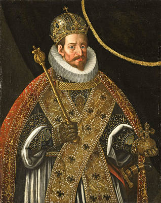 Painting - Matthias Holy Roman Emperor by Circle of Hans von Aachen