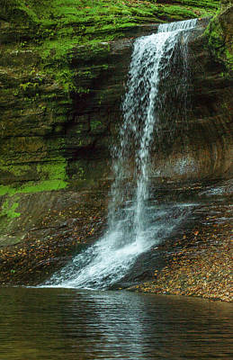 Photograph - Matthiessen State Park Lower Dells Waterfall Oglesby Illinois by Deborah Smolinske