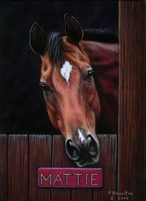 Mattie - Horse Portrait Art Print by Yvonne Hazelton