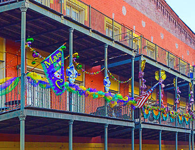 Photograph - Mattress Factory Mardi Gras Railing In Mobile Alabama by Michael Thomas