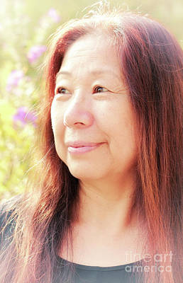Photograph - Mature Female Portrait Sample by Charline Xia