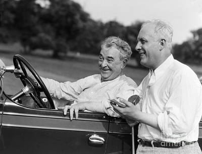 Other Automobiles Photograph - Mature Men At Golf Course, C.1920-30s by H. Armstrong Roberts/ClassicStock