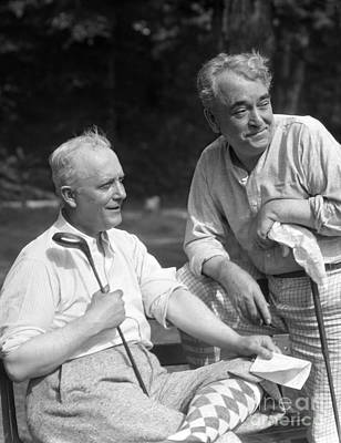 Retiree Photograph - Mature Men Golfing, C.1930s by H. Armstrong Roberts/ClassicStock