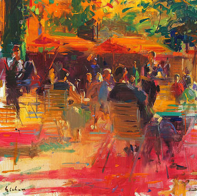 French Signs Painting - Maturing Sun  Paris by Peter Graham